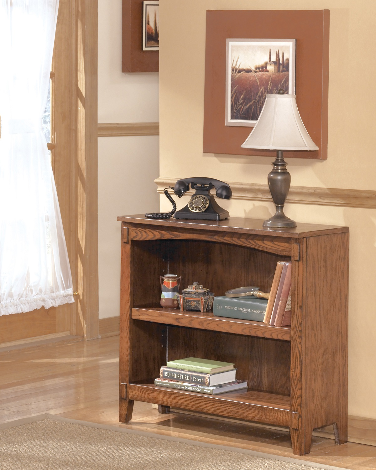 Furnituremaxx Crossingland Medium Brown Small Bookcase